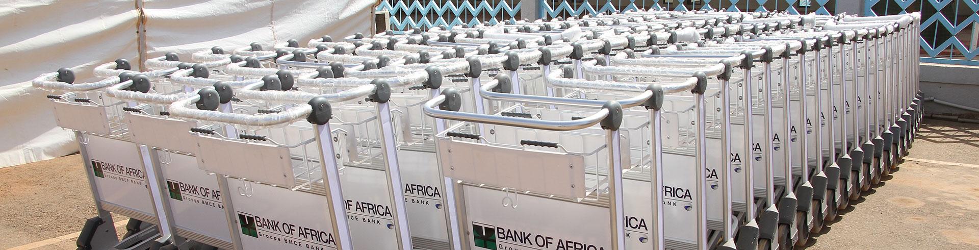 100 chariots bagages pour les aéroports du Burkina Faso (30-10-2020)